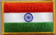 India Embroidered Flag Patch, style 08.